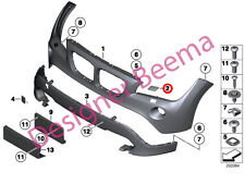 BMW X1 E84 Front Bumper Headlight Washer System Cover Set (JS)