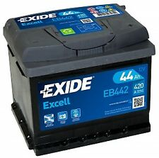 Type 063 Car Battery 420CCA Exide Excell 12V 44Ah 3 Years Warranty Sealed EB442