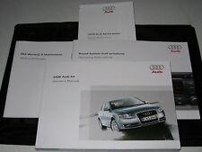 2008 AUDI A4 SEDAN OWNERS MANUAL SET 08 GUIDE w/case 2.0T 3.2 v6
