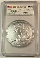 2016 P Fort Moultrie NP America T Beau ATB 5 oz Silver PCGS SP70 FS Mercanti