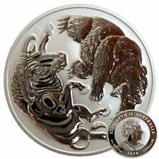 ++ Bull + Bear 2020 - 1oz Silber /  Ag - Perth Mint - Auflage: 25.000 ++