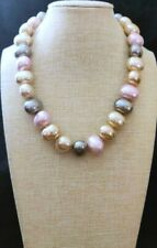"Heidi Daus Gray Multi ""Lady Like"" Simulated Pearl 17-1/4"" Necklace NWT"