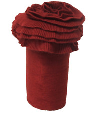 MARTHA STEWART COLLECTION DOUBLE-RUFFLE THROW BLANKET RED NEW MSRP $80