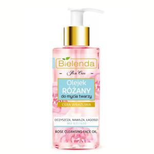 Bielenda Rose Cleansing Face Oil Anti Aging Moisturising Sensitive Skin 140ml