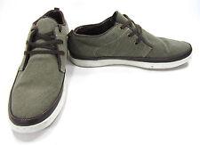Impulse by Steeple Gate Shoes Walker Corduroy Olive Green Sneakers Size 11