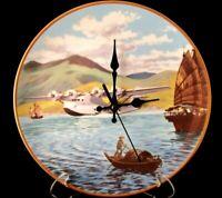 Pan Am China Clipper Plate Wall Clock