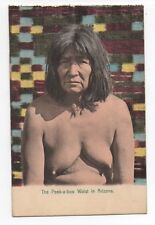 1910 Color Postcard by Rieder of Topless Female Indian from Arizona