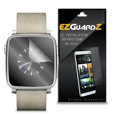 2X EZguardz LCD Screen Protector Cover HD 2X For Pebble Time Steel Smartwatch
