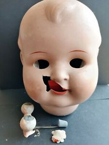 IN NEED OF RESTORATION, VINTAGE BEAUTIFUL LARGE HW DOLLS HEADS