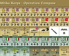 Avalon Hill's Afrika Korps Operation Compass Variant Counters - Die-cut