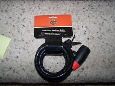 Harley Davidson 12mm Accessory Cable Lock P# 46090-98A new!! FREE SHIPPING!