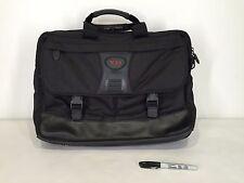 TUMI Black Ballistic Nylon Leather Travel Briefcase Messenger Bag Alpha Laptop