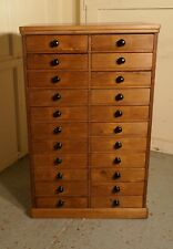 Victorian Pine Collectors Cabinet Filing Drawers