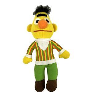 "Sesame Street Playskool Bert Burt Stuffed Animal Plush Toy Size 11"""