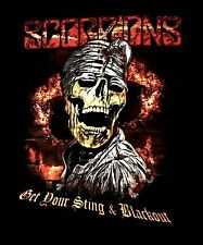 SCORPIONS cd lgo GET YOUR STING & BLACKOUT Official SHIRT XL new sting in tail