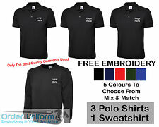 Personalised Embroidered Work Wear Package Printed T-Shirt Sweatshirt Polo Shirt