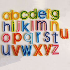 27x magnetic wooden alphabet a z lowercase letters fridge magnets child toy fo