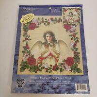 CANDAMAR - TIDINGS OF JOY ANGEL - PICTURE PILLOW EMBELLISHED CROSS STITCH KIT