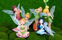 6X Flower Fairy Pixie Fly Wing Family Miniature Dollhouse Garden Ornament vbuk