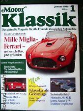 MOTOR KLASSIK 1-90+PORSCHE 916 & 914/8+FERRARI 166+MERCEDES 300 SLR & SAUBER C9