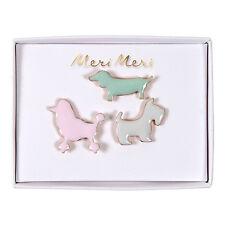 Conjunto de 3 Pines Broche de Perro de Esmalte Por Meri Meri-Accesorios de regalo con temática de animales