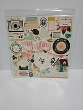 American Crafts Maggie Holmes Open Book Chipboard Accents 12 X 12