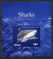Tuvalu 2014 MNH Sharks Blacktip Reef Shark 1v S/S Marine Animals Stamps