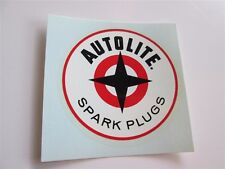 NOS Autolite Spark Plugs Water Slide Decal Awesome Colors Real Deal 60s Hot Rod