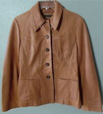 Women's Banana Republic Camel Light Brown Leather Jacket Size Small