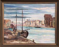 "GUSTAV BURDENSKY 1904 - 1971 STADTANSICHT ""MORGEN IN DANZIG"" 86 X 105 CM"