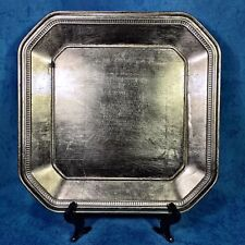 """Set-8 Home Goods 13"""" Square GOLD Shabby Chic HOLIDAY FANCY Plate Chargers $104"""
