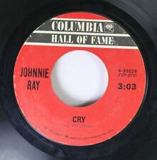 Pop 45 Johnnie Ray - Cry / The Little White Cloud That Cried On Columbia