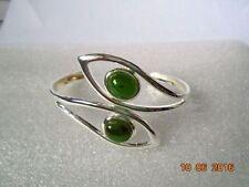 Silver Plated Bangle Jade Costume Bracelets
