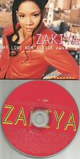ZAKIYA My Love won't fade away 7TRX EDITS& INSTRUMENTAL &ACAPELA PROMO CD single