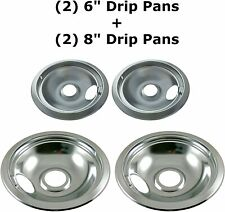 New listing Stove Drip Pan Covers Set For Frigidaire Kenmore Electric Burner Cook Top Bowl
