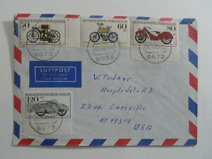 Discount Stamps : GERMANY 1983 AIR MAIL NICE CANCEL MOTOR CYCLE COVER TO USA