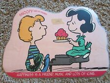 VINTAGE SNOOPY AND HIS FRIENDS PLACEMAT HAPPINESS IS FRIENDS MUSIC AND ICING