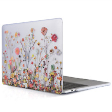 MacBook Pro 13 Inch Protective Hard Case Soft Touch Matte Cover Flowers Pretty
