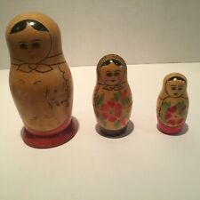 Vintage Russian Nesting Dolls Made In The Ussr