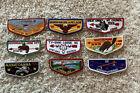 Mixed Lot of Nine (9) Vintage Boy Scout BSA Lodge Council Badges / Patches