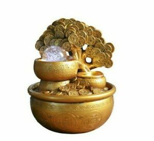 Money Tree Water Fountains Figurines 18x18x23cm Resin Feng Shui Tabletop Decors