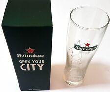 Heineken NEW Signature Beer Glass Barware Collectible Open Your City NIB ~ryokan