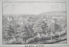 Baselaugst Augst Liestal Schweiz  seltene alte  Lithographie 1820