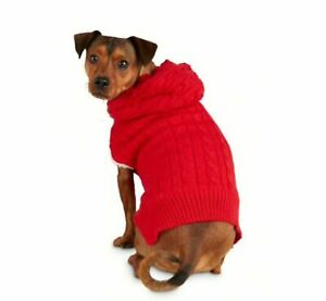 Bond &Co. Comfy Camper Red Dog Hoodie Sweater Faux-Shearling Lined NWT