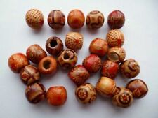 Rare Genuine Wooden Mixed Pattern Japanese Ojime Netsuke old Beads Pendant 12mm