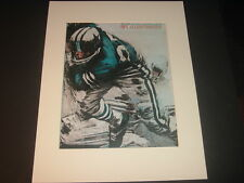 Repro 1966 Dallas Cowboys Dave Boss NFL Illustrated Football Matted Print