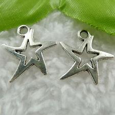 Free Ship 200 pcs  tibet silver star charms 19x18mm #474