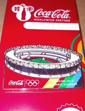 LONDON 2012 OLYMPICS COCA - COLA OLYMPIC STADIUM VENUE PIN BADGE - EXCLUSIVE