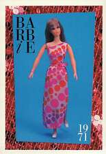 """Barbie Collectible Fashion Trading Card """" Living Barbie """" Wrap-Around Skirt 1971"""