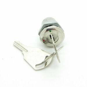 Mini Interrupteur contacteur à clé clef de contact 220v 12v K8 Long 24mm